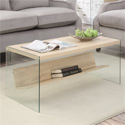 Convenience Concepts Soho Coffee Table in Weathered White