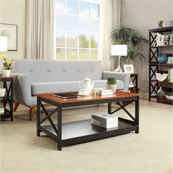 Convenience Concepts Oxford Coffee Table in Cherry