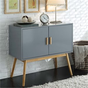 Storage Console Table in Gray and Black