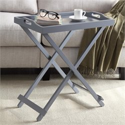 Convenience Concepts Designs2Go Folding Tray Table in Gray