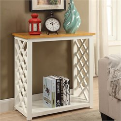 Convenience Concepts Cape Cod Console Table in White