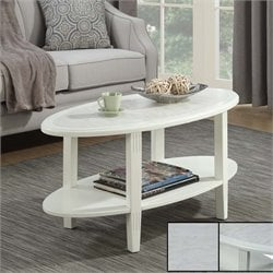 Oval Coffee Table in White
