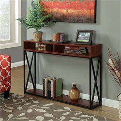 Deluxe 2 Tier Console Table in Cherry