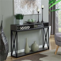 Deluxe 2 Tier Console Table in Gray
