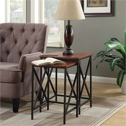 2 Piece Nesting End Table Set in Cherry
