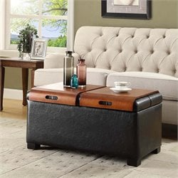 Coffee Table Ottoman in Black