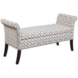Convenience Concepts Designs4Comfort Garbo Bedroom Bench in Ribbon
