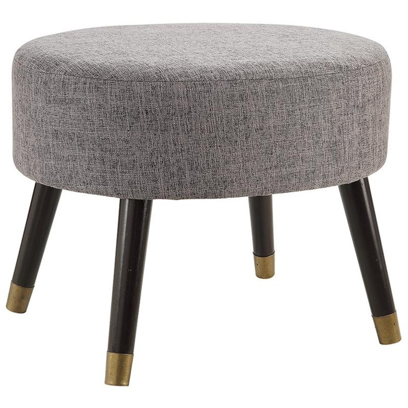 Convenience Concepts Designs4Comfort Mid Century Ottoman Stool in Gray