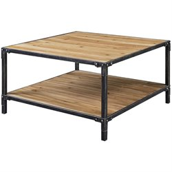 Convenience Concepts Laredo Square Coffee Table in Black