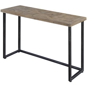 Convenience Concepts Laredo Console Table in Black and Natural