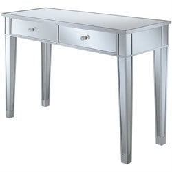 Convenience Concepts Gold Coast Mirrored Vanity in Silver
