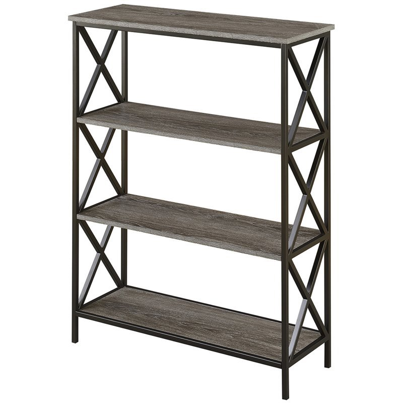 Convenience Concepts Tucson 4 Tier Bookcase In Weathered