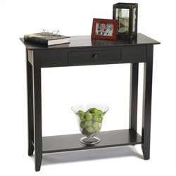Convenience Concepts American Heritage Hall Table in Black