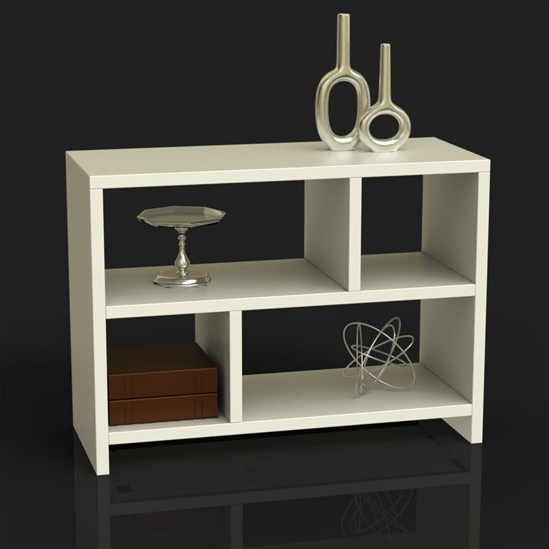 Bookend Console Table in White