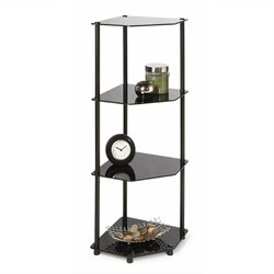 4 Tier Corner Shelf in Black