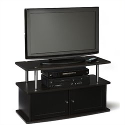 Convenience Concepts Designs2Go TV Stand with 2 Cabinets in Espresso