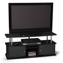 Convenience Concepts Designs2Go™ TV Stand with 3 Cabinets in Black