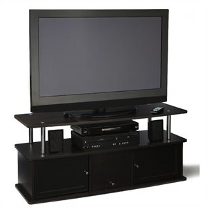 TV Stand with 3 Cabinets in Espresso