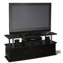 Convenience Concepts Designs2Go TV Stand with 3 Cabinets in Espresso