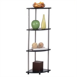 4-Tier Corner Shelf in Black