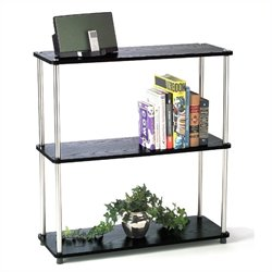3-Tier Bookshelf in Black