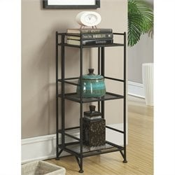 3 Tier Folding Shelf in Black