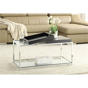 Glass Coffee Table in Black