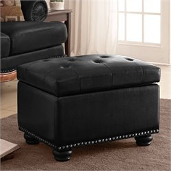 Convenience Concepts Designs4Comfort 5th Avenue Black Storage Ottoman