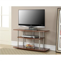 Convenience Concepts Designs2Go 3 Tier Wide TV Stand - Cherry