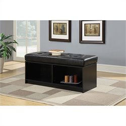 Convenience Concepts Designs4Comfort Broadmoor Storage Ottoman - Black