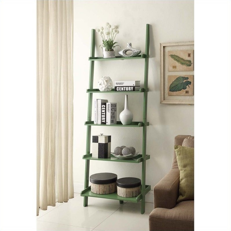 Convenience Concepts French Country Bookshelf Ladder - Green