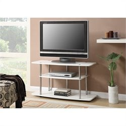 Convenience Concepts Designs2Go 3 Tier Wide TV Stand - White