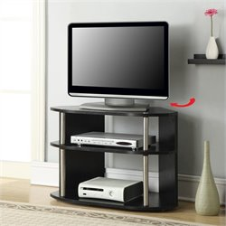 Convenience Concepts Designs2Go Swivel TV Stand - Black