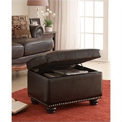 Convenience Concepts Designs4Comfort 5th Avenue Storage Ottoman - Espresso