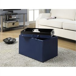 Convenience Concepts Designs4Comfort Accent Storage Ottoman - Blue