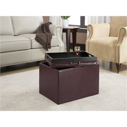 Convenience Concepts Designs4Comfort Accent Storage Ottoman - Purple