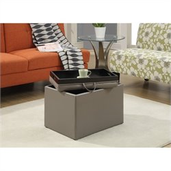 Convenience Concepts Designs4Comfort Accent Storage Ottoman - Grey