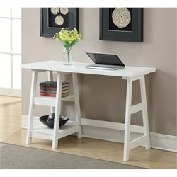 Convenience Concepts Designs2Go Trestle Desk - White