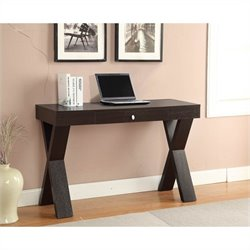 Convenience Concepts Newport Desk with Shelf - Espresso
