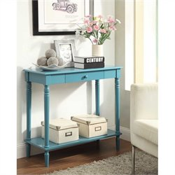 Convenience Concepts French Country Hall Table - Blue
