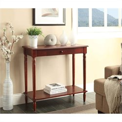 Convenience Concepts French Country Hall Table - Dark Cherry