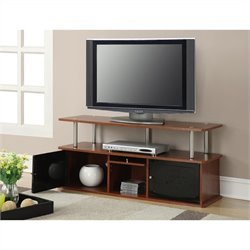 TV Stand with 3 Cabinets - Cherry
