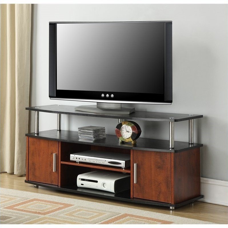 Convenience Concepts Designs2go Monterey 48 Tv Stand In Cherry And Black