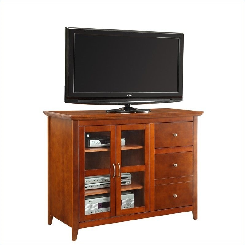 Convenience Concepts Designs2Go Sierra Highboy TV Stand - Cherry