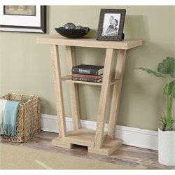 Convenience Concepts Newport V Console - Weathered White
