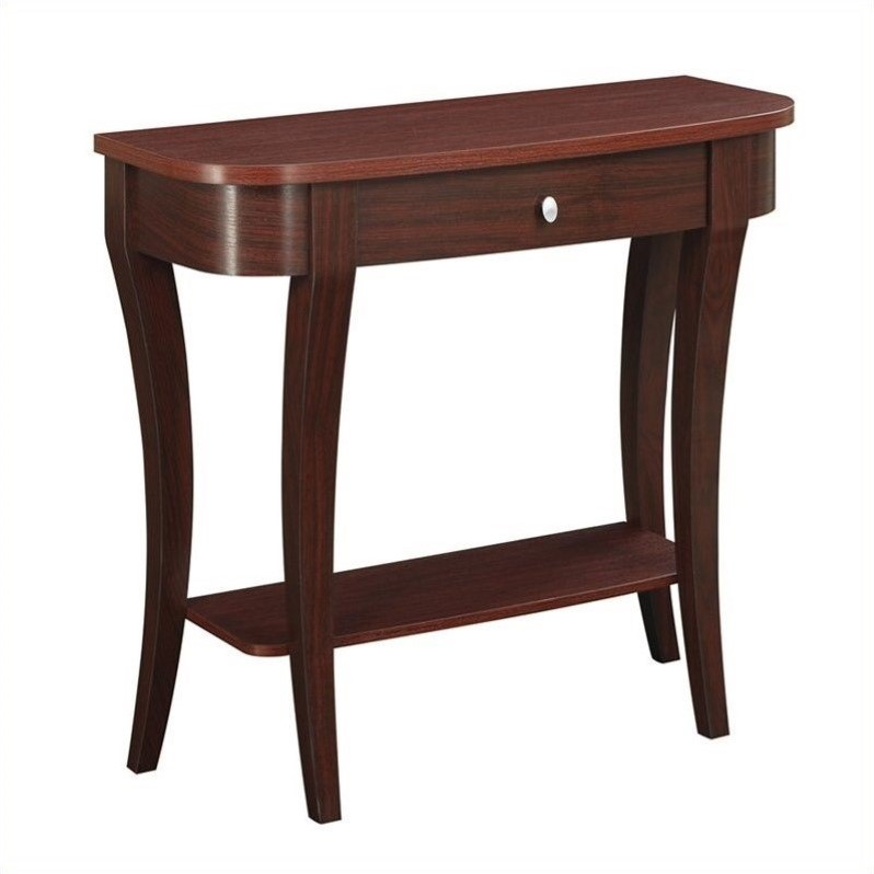 Convenience Concepts Newport Console Table - Mahogany
