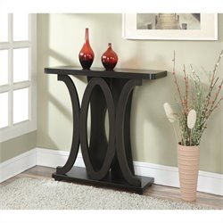 Convenience Concepts Newport Hailey Console Table - Espresso
