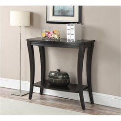 Convenience Concepts Newport Console Table with Shelf - Espresso