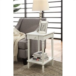 Convenience Concepts French Country End Table - White