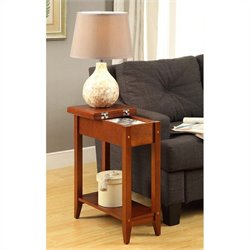 Convenience Concepts American Heritage Flip Top End Table - Cherry